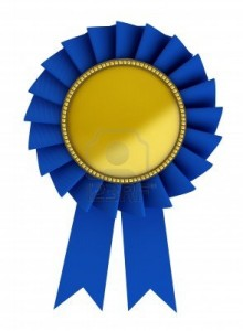 Blue Ribbon-Gold Middle